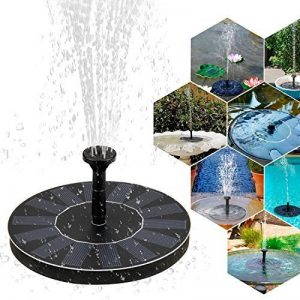 Mture Fontaine Solaire, Pompe à eau solaire Panneau solaire Pompe pour bassin ou Décoration de Jardin,Pompe Extérieure Arrosage Jardin Autoportant Pompe flottante 7V/1.4W de la marque Mture image 0 produit