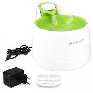 Navaris Fontaine pour chiens et chats - Distributeur d'eau capacité 2L débit réglable - Filtre et pompe immergée - Abreuvoir pour animaux - vert de la marque Navaris image 0 produit