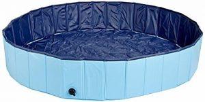 Pettom Piscine Baignoire Bassin pour Chien Chat Animaux de Compagnie de Bain Jeux Pliable Doggy Pool Facile à Nettoyer Portable - Bleu 120x30cm de la marque Pettom image 0 produit