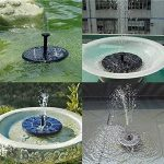 Pompe de fontaine solaire, YoiYee extérieure 1.4W solaire alimenté en eau arrosant submersible pompe Kit pour bain d'oiseaux, jardin, étang, piscine, réservoir de poissons, Aquarium, décoration de la maison, noir de la marque YoiYee image 1 produit