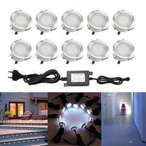 QACA LED Pour Terrasse Mini Spot Extrieur Lumiere Eclairage Enterr Plafonnier Lampe Dco Chemin Bassin Piscine