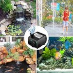 SeeKool Pompe à Eau Submersible300L/H 3W Ultra-silencieux avec 2 Buses,4 Pieds de Ventouses pour les Fish Tank Fontaines de Table Aquarium Pond Water Gardens.EU Plug de la marque SeeKool image 2 produit