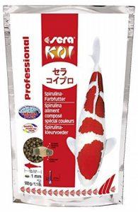 Sera - Koi Professional - Nourriture spécial couleurs pour poissons - Carpes koï - À base de spiruline - 1 x 500 g de la marque SERA image 0 produit
