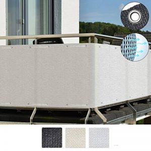 Sol Royal SolVision Brise vue pour balcon HB2 HDPE 500x90 cm Blanc avec oeillets et cordons de la marque Sol Royal image 0 produit