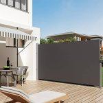 SONGMICS GSA180G - Store latéral extractible Brise-vue Pare-soleil Certifié par TÜV SÜD Tissus en polyester 280g/㎡- 180 x 300 cm (H x L) - Gris foncé de la marque SONGMICS image 2 produit
