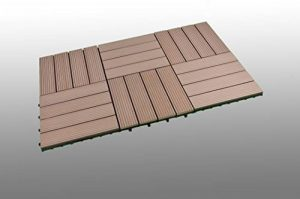SORARA - WPC | Robuste | 30 x 30 cm | Marron | 6x | 0.54 m2 | Dalles massives pour Jardin et Terrasse | avec Système de Clic de la marque SORARA image 0 produit