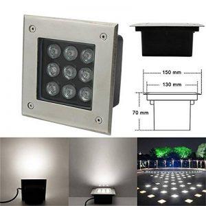 Spot à Encastrer au sol à LED, Spot Encastré à LED 9W Blanc Naturel / Carré Spot Encastrable à LED 230V Extérieur IP67 de la marque BAODE image 0 produit