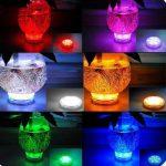 StillCool Lumière submersible de LED, Lampe Sous-marines décoratives multicolore LED Avec Télécommande Pour L'éclairage/aquarium de poisson/Mariage/Fête (Lot de 4pcs LED) de la marque StillCool image 2 produit