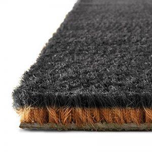 Tapis d'entrée en coco casa pura® en couleur noir | fibres en coco noir l - effet nettoyant élevé | épaisseur 24mm - 3 tailles - 50x80cm de la marque casa pura image 0 produit
