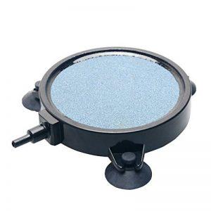 Uniclife 10cm Disque d'aération en pierre disque Diffuseur de bulles avec ventouses pour hydroponie Aquarium Pompe de la marque Uniclife image 0 produit