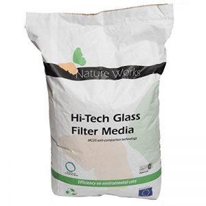 Verre filtrant Hi-Tech de Nature Works (20 kg) pour les installations de filtration par sable pour piscines, en verre naturel, cristallin, alternative écologique au sable, grain Ø : 0,8 mm de la marque Nature Works image 0 produit