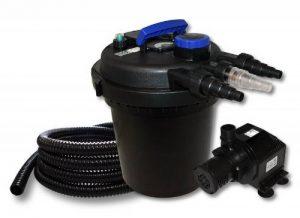 WilTec Kit de Filtration à Pression Bassin 6000l Stérilisateur UVC 11W Pompe 25m Tuyau de la marque WilTec image 0 produit