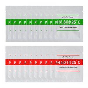 XCSOURCE 20pcs 4,00 6,86 pH Testeur pH Solution Tampon Poudre pour pH Mètre Étalonnage Rapide et Précis du pH de Pureté d'Eau BI672 de la marque XCSOURCE image 0 produit